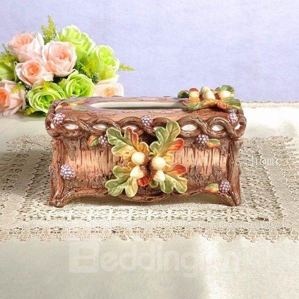 European Style Ceramic Acorn Pattern Painted Pottery