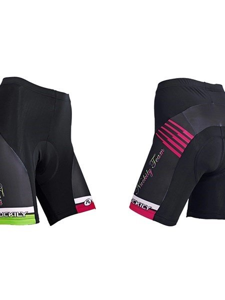 Female Green and Red Breathable 3D Padded Bike Shorts Quick-Dry Cycling Suit