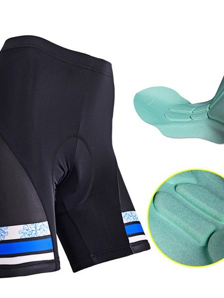 Female Pink Strip Breathable Bike Shorts Quick-Dry Sponged Cycling Suit