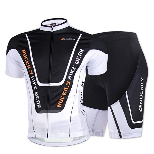 Male Short Sleeve Breathable Full Zipper Road Bike Jersey Quick-Dry Cycling Suit