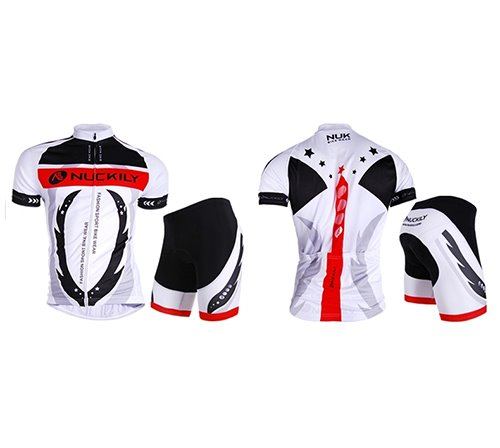 Male Swing Breathable Short Sleeve Bike Jersey with Full Zipper Quick-Dry Cycling Suit