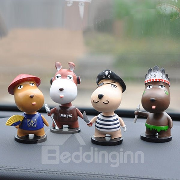 Popular Fashional Pig Cartoon Singer Creative Car Decor