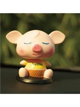 Dreaming Small Cute Fat Pig Style Creative Car Decor