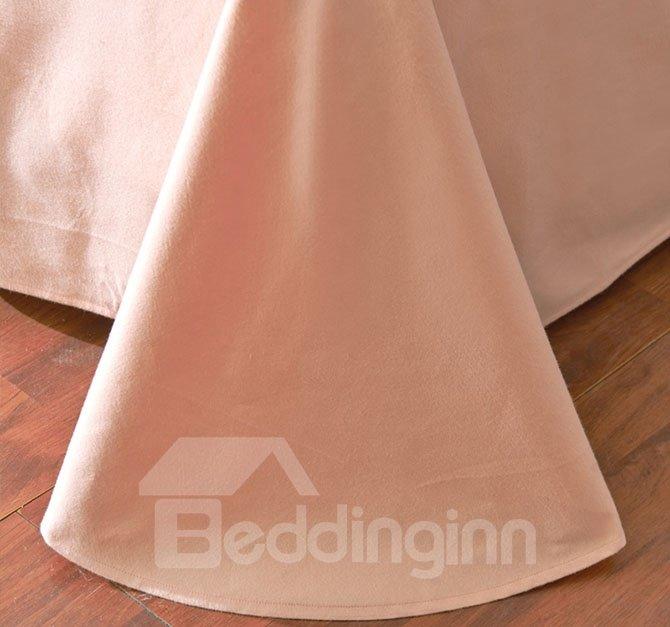 Fabulous Flamingo Print Fresh Green 4-Piece Cotton Bedding Sets