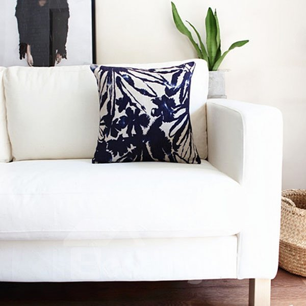 Indigo Vintage Chic Orchid Decorative Throw Pillow