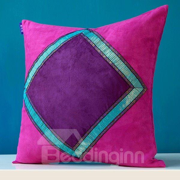 Exotic Style Diamond Pattern Throw Pillow Case