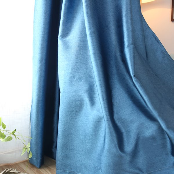 Concise Pure Colored Embossed High Density Blackout Drapes