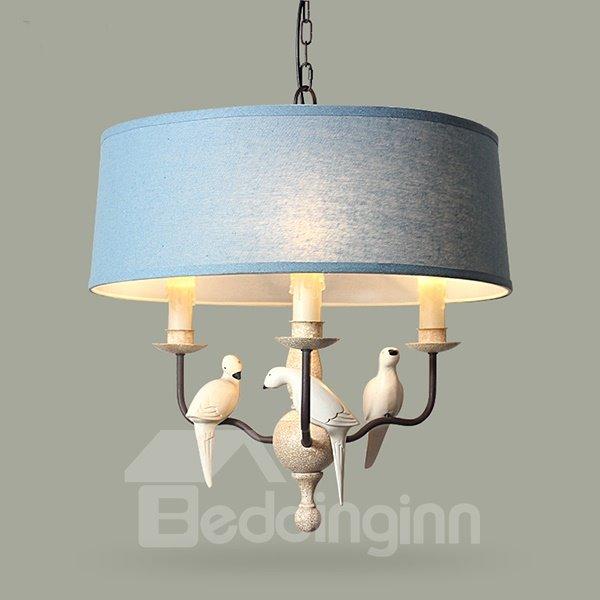Classical Mediterranean Style Birds Ceiling Light