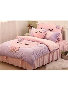 Special Design Cute Cat 4-Piece Duvet Cover Sets