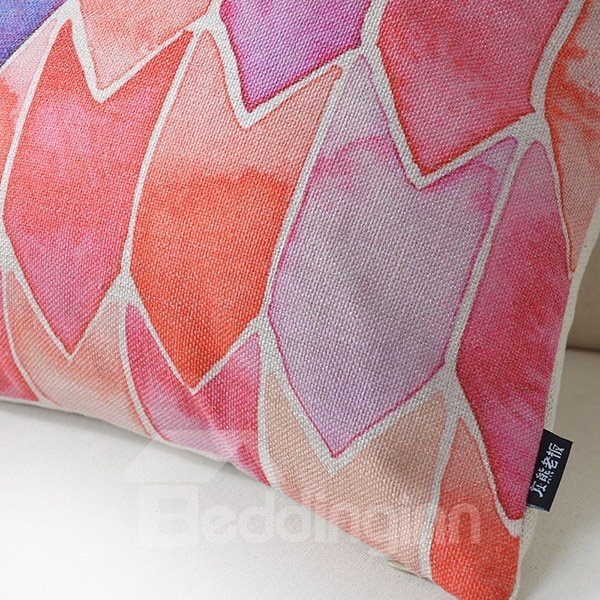 Adorable Pink and Blue Arrows Print Throw Pillow