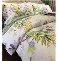Ultra Soft Tropical Floral 4-Piece Tencel Duvet Cover Sets