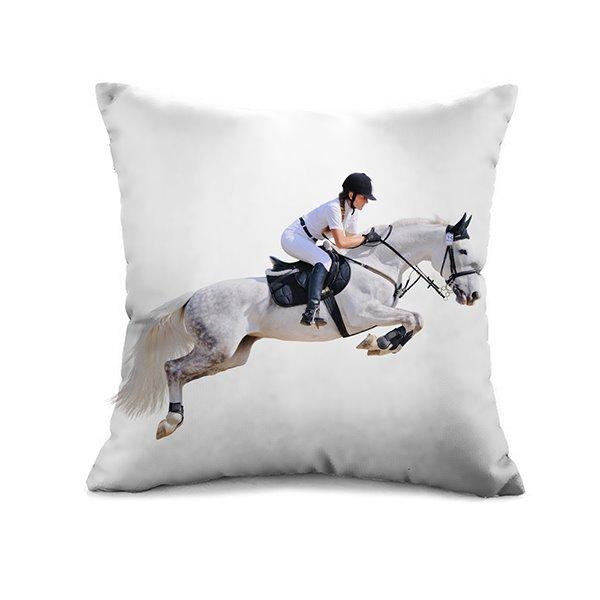 Marvelous Horse Racing 3D Print Throw Pillow Case