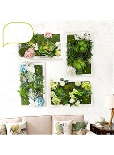 Decorative Countryside Style Artificial Plants Pattern Wall Art Prints
