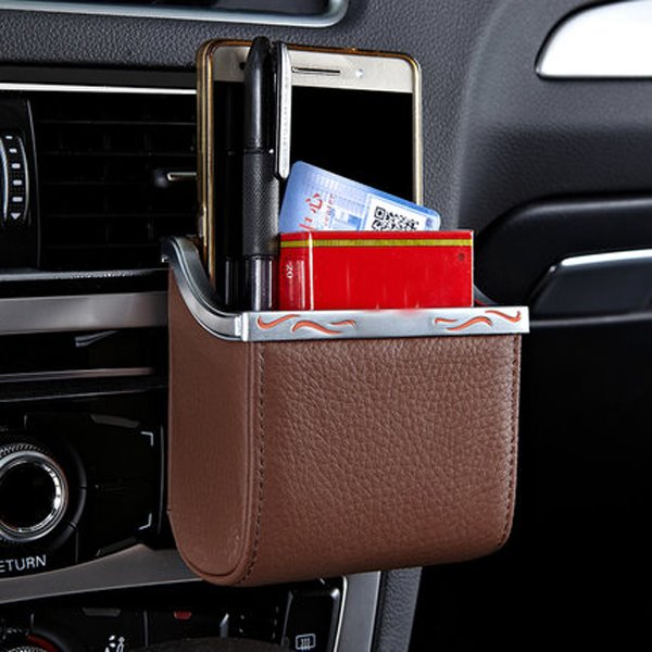 Mini Portable Refinement PU Leather Material Fashional Design Car Organizer