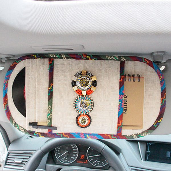 Bohemian Style With Beautiful Decoration CD Holder Car Sun Shades