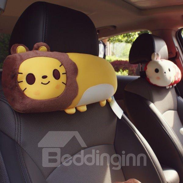 Cute Lion Cartoon Style Most Comfortable Car Headrest Pillow
