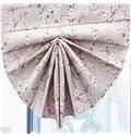 Concise Pink Plum Blossom Print Custom Roman Shades