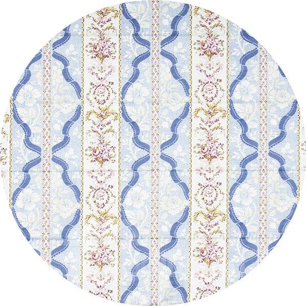 Elegant Damask Stripes and Chevron Print Custom Roman Shades