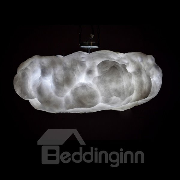 Handmade Remote Control 7-Color Changing Clouds Shaped LED Ceiling Light