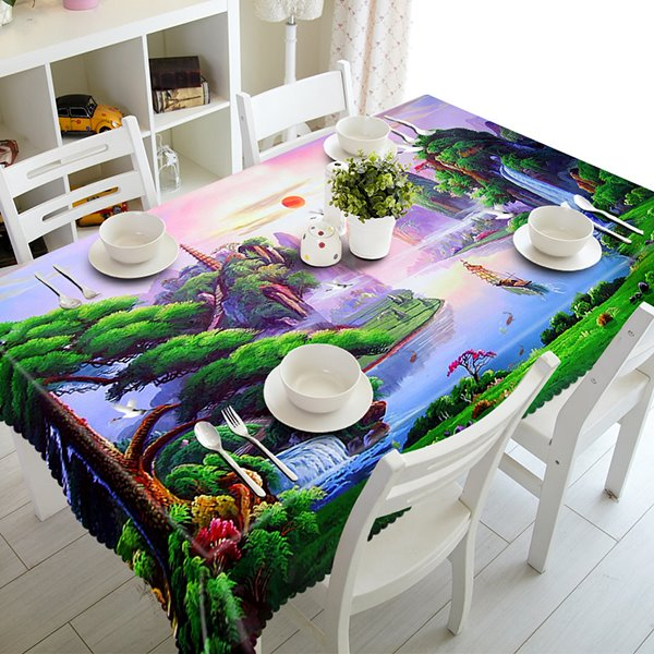 Sunrise Natural Beautiful Scenery Pattern 3D Tablecloth