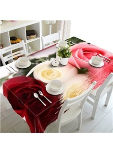 Multicolor Beautiful Roses Pattern 3D Tablecloth