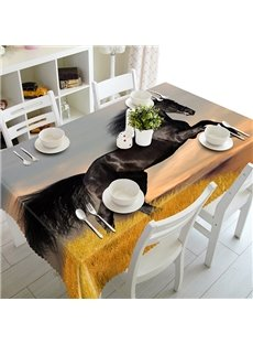 Specialty Swarthy Running Horse Pattern 3D Tablecloth