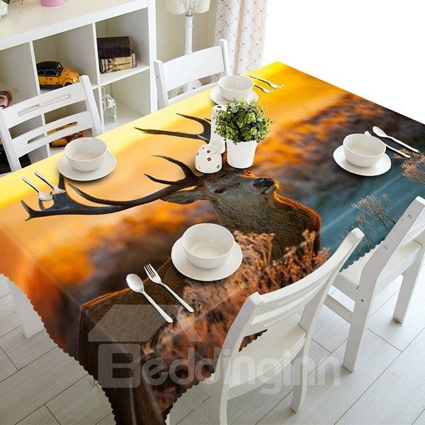 Magical Design Saki Deer Pattern 3D Tablecloth
