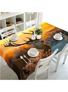 Magical Design Saki Deer Pattern 3D Tablecloth