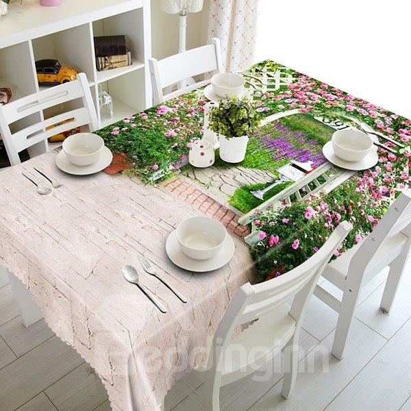 Beautiful Garden Scenery Pattern 3D Tablecloth