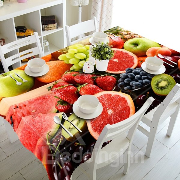 Delicious Miscellaneous Fruit Pattern 3D Tablecloth
