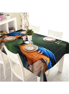 Lovely Polyester Parrot Pattern 3D Tablecloth