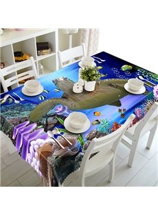 Cute Polyester Tortoise Pattern 3D Tablecloth