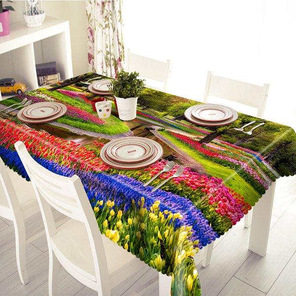 Beautiful Flower Garden Pattern 3D Tablecloth