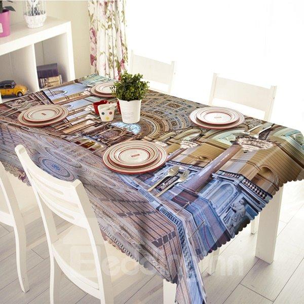 Splendent Polyester Palace Pattern 3D Tablecloth