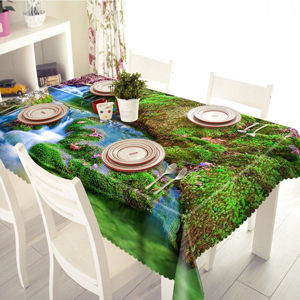 Amazing Polyester Spring and Moss Pattern 3D Tablecloth