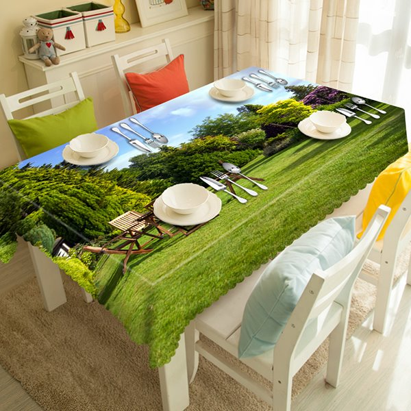 Leisurely Natural Scenery Pattern 3D Tablecloth