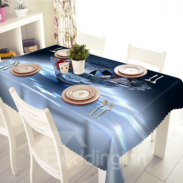 Creative Crystal Pattern Polyester 3D Tablecloth
