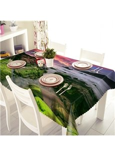 Intoxicating Sunset Seaside Scenery Pattern 3D Table Cloth
