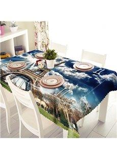 Wonderful Polyester Eiffel Tower Pattern 3D Tablecloth