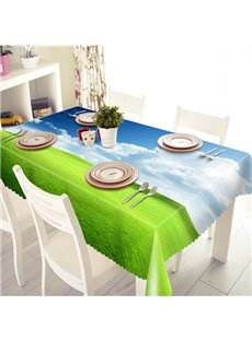 Natural Simple Style Prairie Scenery Pattern 3D Tablecloth