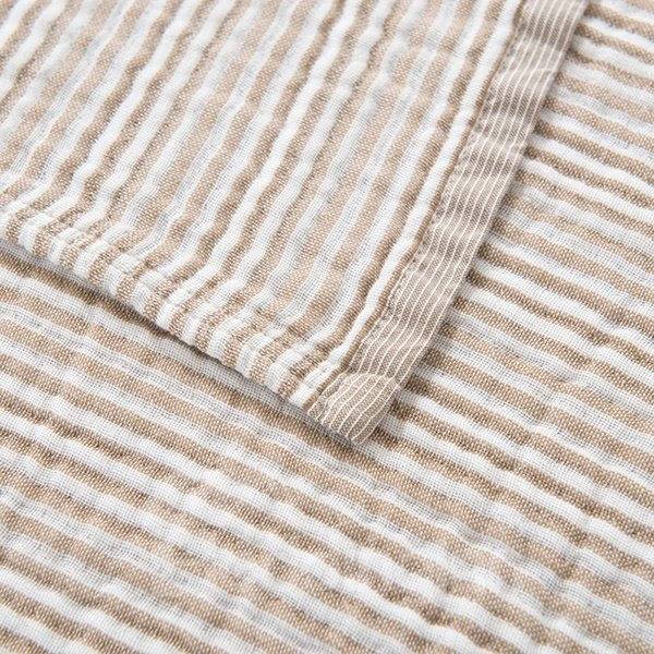 Reversible Lightweight Solid Camel Color Cotton Quilt