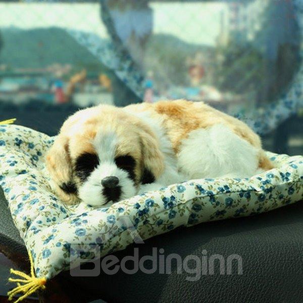 Cute Dog Pet Simulation And High-Grade Plush Material Car Creative Decor