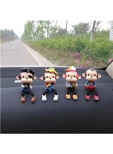Artificial Stained Attractive And Cute Cartoon Monkey Creative Car Decor