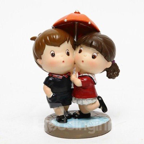 Lovely Couple Warm And Sweet Cartoon Car Creative Decor