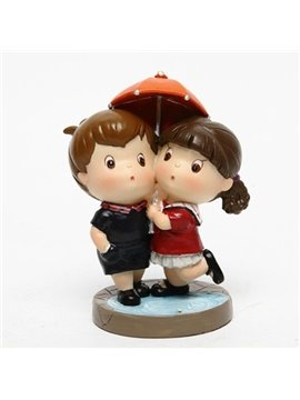 Lovely Couple Warm And Sweet Cartoon Car Creative Decor