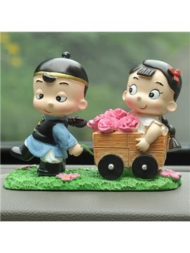 Romantic Love Implication And Good Lucky Car Creative Decor