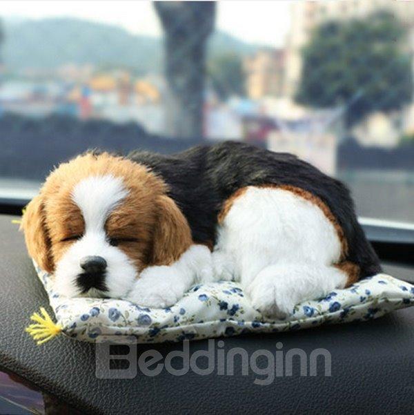 Cute Real Dog Pet Style Car Creative Decor