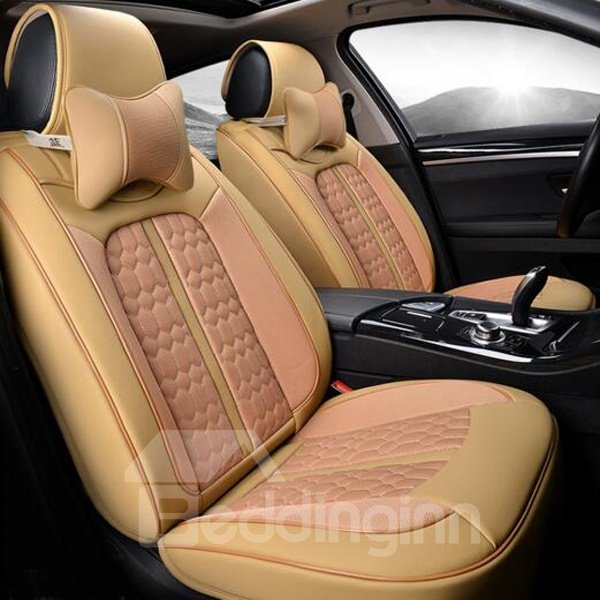Comfortable Textured And Attractive Design Style PU Leather Car Seat Cover