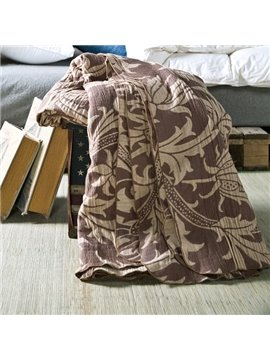 Vintage Toile Pattern Brown 100% Cotton Quilt