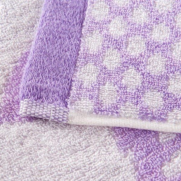 Fancy Adorable Peony Jacquard Purple Cotton Quilt